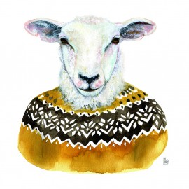Sheep with jersey