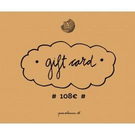 Tarjeta regalo 108€