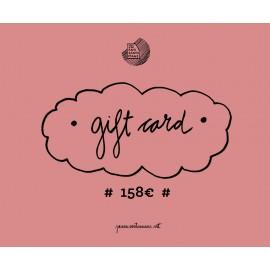 Tarjeta regalo 158€