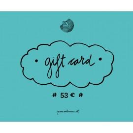 Tarjeta regalo 53€