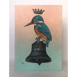River kingfisher on bell